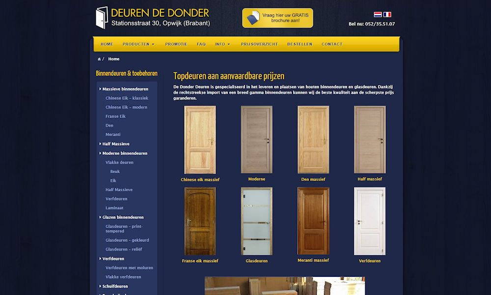 Site web dedonderdeuren.be