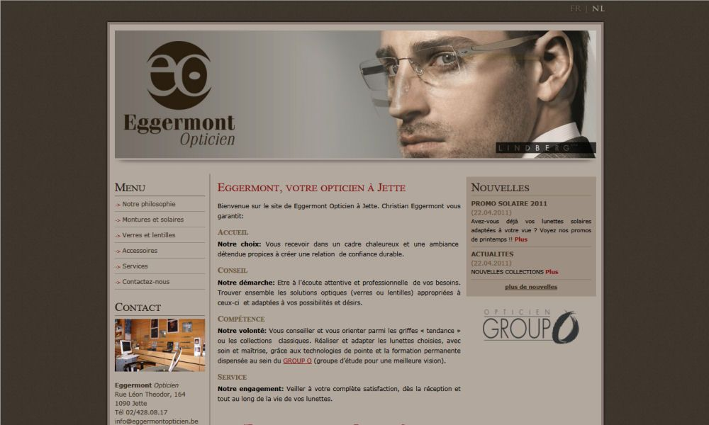 Website Eggermont Opticien