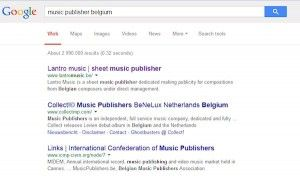 Google ranking Lantro Music