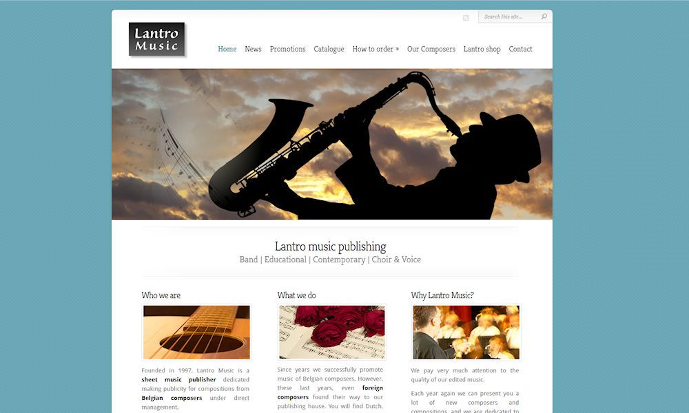 Site web lantromusic.be
