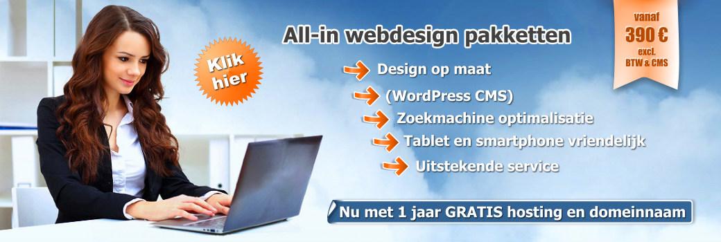 Webdesign pakketten
